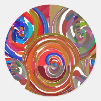 Cercles de nettoyage d'aura - mandala 7 de sticker rond