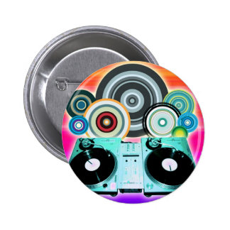 Cercles de plaque tournante du DJ Pin's