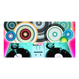 Cercles de plaque tournante du DJ Photocarte Personnalisée