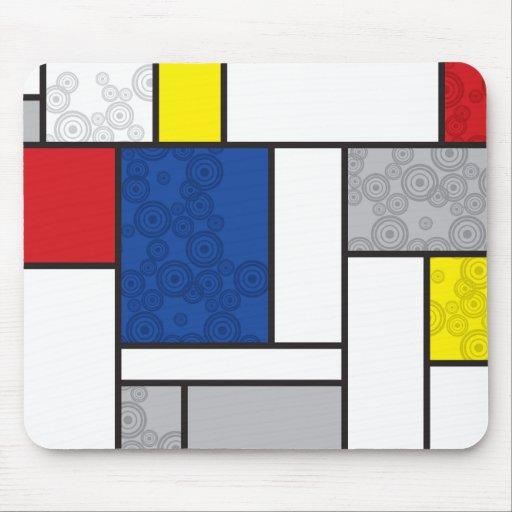 Cercles de stijl d 39 art minimaliste de mondrian tapis de for Surface minimum bureau code du travail