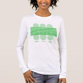 Cercles et effet de conception de boîte t-shirt à manches longues
