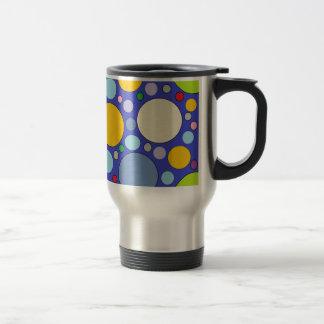 cercles et pois mug de voyage