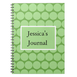 Cercles et rectangle verts en pastel carnets