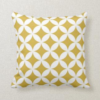 Cercles géométriques classiques dans la moutarde oreillers