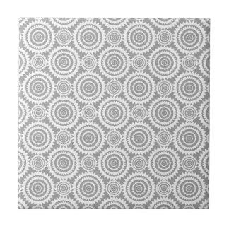 Cercles géométriques élégants modernes gris et carreau