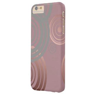 cercles géométriques gris d'or rose clair élégant coque iPhone 6 plus barely there