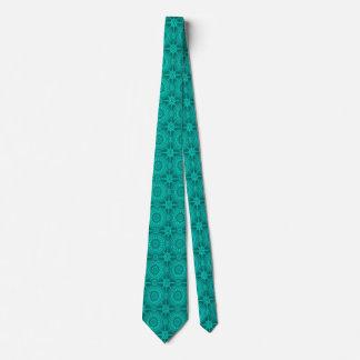 Cercles géométriques vintages turquoises lumineux cravates