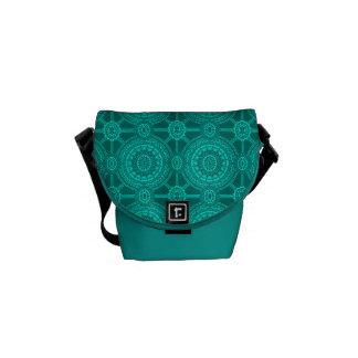 Cercles géométriques vintages turquoises lumineux sacoches