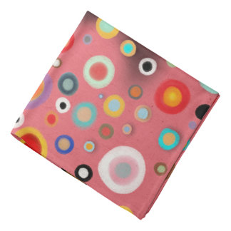 Cercles heureux abstraits roses Whimsicals Bandanas