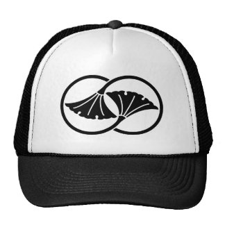 Cercles liés de feuille de ginkgo casquette trucker