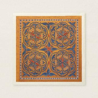 Cercles médiévaux serviettes en papier