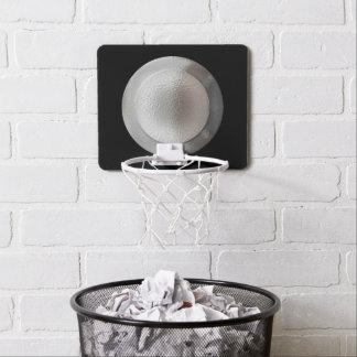 Cercles métalliques argentés ronds d'anneau de mini-panier de basket