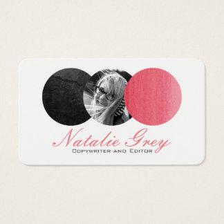 Cercles modernes de photo d'aquarelle cartes de visite
