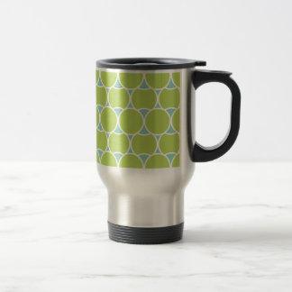 Cercles modernes mug de voyage
