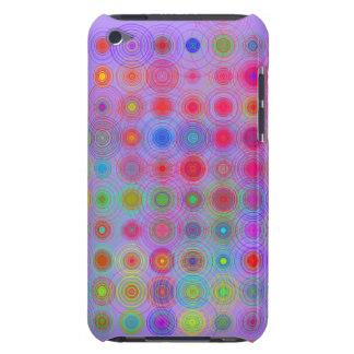 Cercles multicolores dans des cercles graphiques coques iPod Case-Mate
