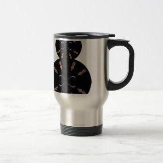 Cercles noirs sur la vanille. Conception Mug De Voyage