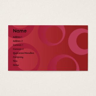 Cercles rouges - affaires cartes de visite