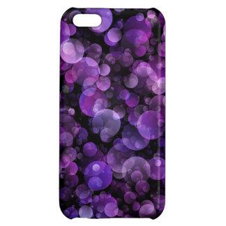 Cercles violets de Bokeh d'abrégé sur pourpre Coque iPhone 5C