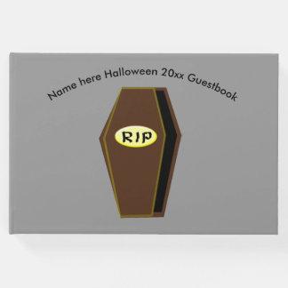 Cercueil de Halloween de DÉCHIRURE de Guestbook de Livre D'or