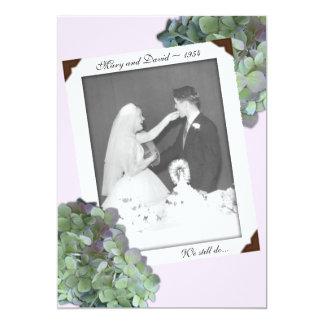 Cérémonie verte de renouvellement de voeu carton d'invitation  12,7 cm x 17,78 cm
