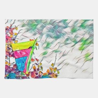Cerf-volant de glissement de coup de Stromy Linges De Cuisine