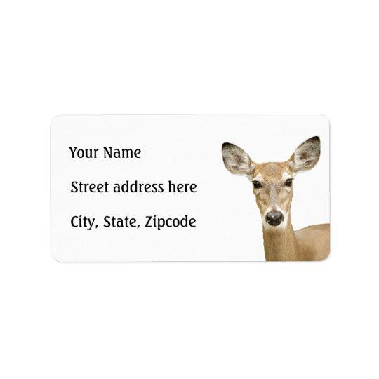 Cerfs communs coupés la queue par blanc étiquette d'adresse