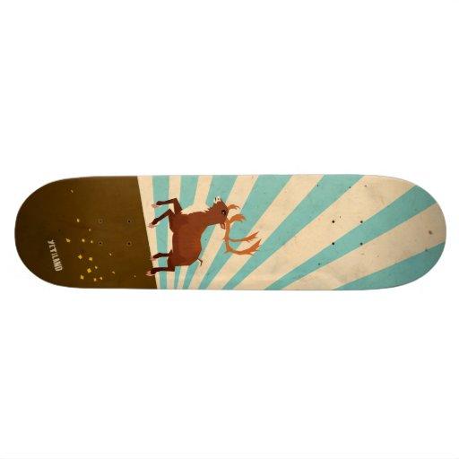 cerfs communs courageux plateau de skateboard