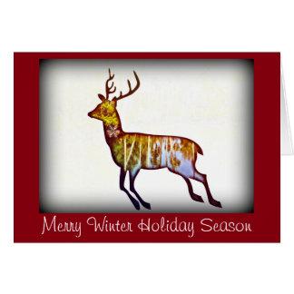 Cerfs communs courants sur la salutation de Noël Cartes