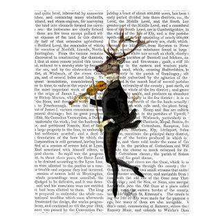 Cerfs communs de danse avec le violon carte postale