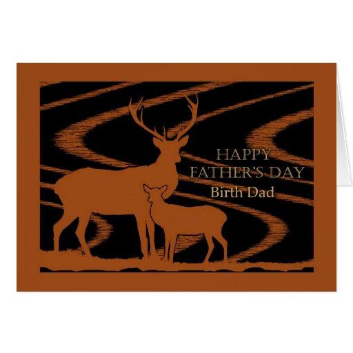 Cerfs communs de fête des pères dans le domaine, p carte