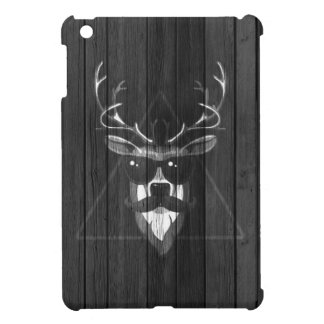 Cerfs communs de moustache de hippie - noirs et bl coques iPad mini