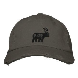 Cerfs communs d'ours ou déclaration brodée de casquette brodée