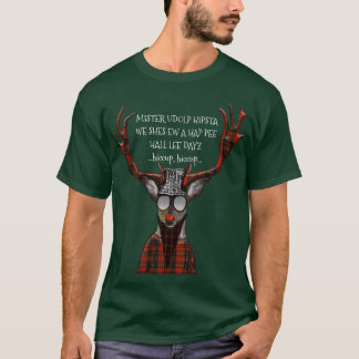 Cerfs communs drôles de hippie de Hall Lee Dayz de T-shirt