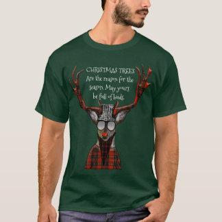 Cerfs communs drôles de hippie de message d'arbres t-shirt