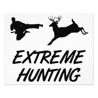 Cerfs communs extrêmes de coup-de-pied de karaté d prospectus 11,4 cm x 14,2 cm
