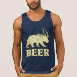 Cerfs communs jaunes vintages d'ours t-shirt