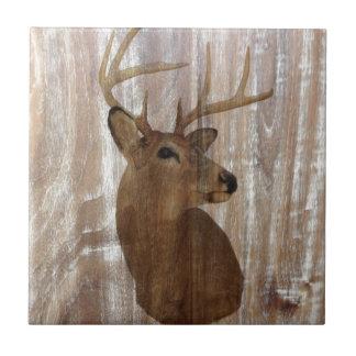 Cerfs communs primitifs occidentaux en bois de petit carreau carré