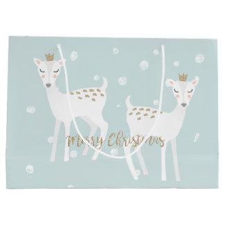 Cerfs communs - sac mignon de cadeau de Noël