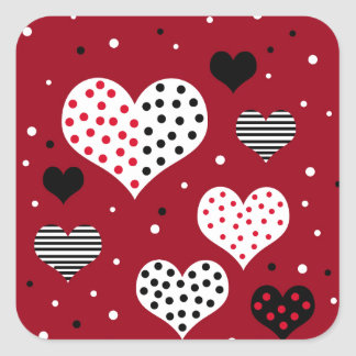 Cerfs de Saint-Valentin Sticker Carré