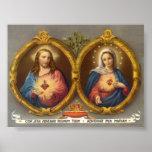 Cerfs sacrés de Jésus et de Mary Poster