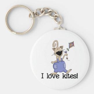 Cerfs-volants d amour de chaton porte-clés