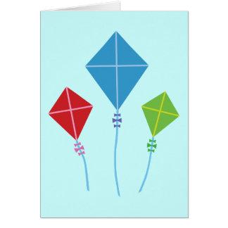Cerfs-volants espiègles carte de vœux