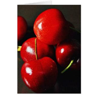 Cerise de cerises de fruit cartes de vœux