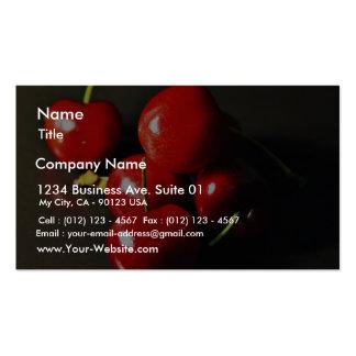 Cerise de cerises de fruit modèle de carte de visite