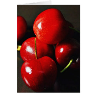 Cerise de cerises de fruit carte de vœux