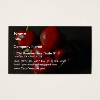 Cerise de cerises de fruit cartes de visite