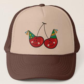 Cerise rouge effrontée drôle comique de cerises casquette