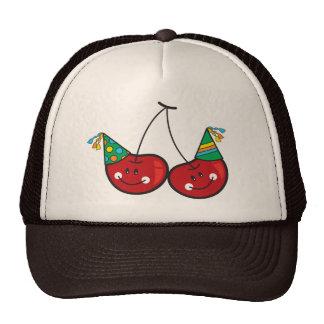 Cerise rouge effrontée drôle comique de cerises d' casquettes de camionneur