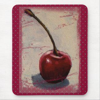 Cerise rouge lumineuse : Peinture originale Tapis De Souris