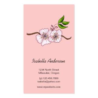 Cerises de pays · Branche de fleurs de cerisier Cartes De Visite Professionnelles